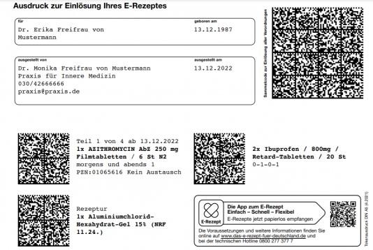 Apotheke E-Rezept Digitalisierung eRezept gematik Verordnung Arzneimittel